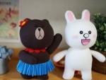 May gấu Brown và thỏ Cony từ tất cực đáng yêu
