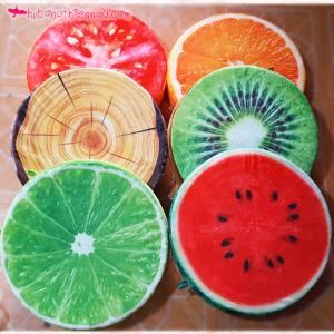 Gối tròn 3D trái cây