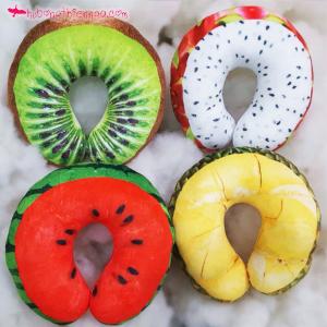 Gối chữ u trái cây 3d