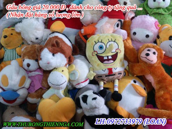 Gấu bông giá rẻ bán shop chỉ 20.000 Đ tại Tp.hcm